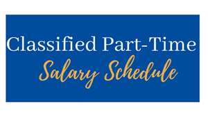 classified part-time salary schedule