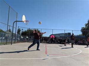 Pics from Staff v. Students Volleyball Game