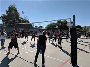 Staff v Students Volleyball Game